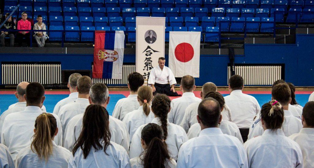 Početak aikido treninga, seiza